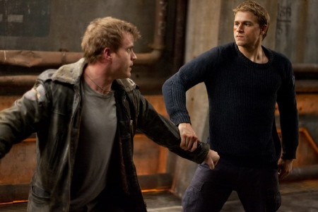Chuck Hansen and Raleigh Becket fight from the Warner Bros. Pictures film Pacific Rim