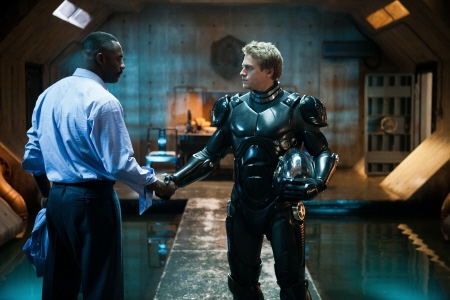 Edris Elba and Charlie Hunnam from the Warner Bros. Pictures film Pacific Rim