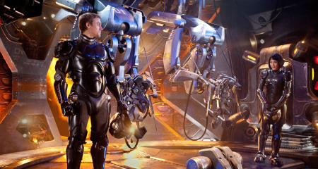 Raleigh and Mako from the Warner Bros. Pictures film Pacific Rim