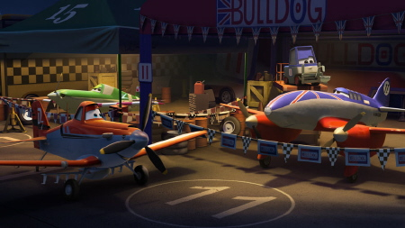 Dusty and Bulldog from the Walt Disney Pictures film Planes