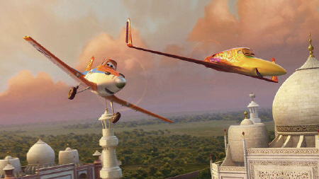 Dusty and Ishani at the Taj Mahal from the Walt Disney Pictures film Planes
