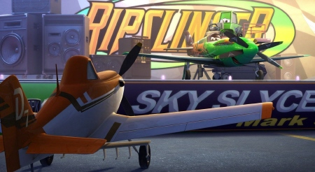 Ripslinger and Dusty from the Walt Disney Pictures film Planes