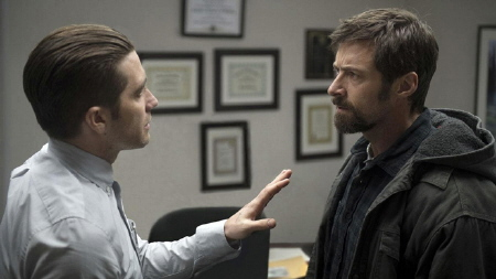 Jake Gyllenhaal and Hugh Jackman from the Warner Bros. Pictures film Prisoners
