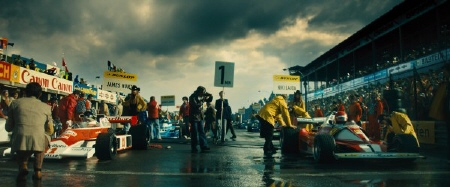 Rainy day on the track from the Imagine Entertainment film Rush