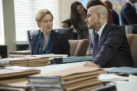Laura Linney and Stanley Tucci from the Walt Disney Pictures film The Fifth Estate