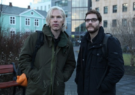 Julian Assange and Daniel Berg from the Walt Disney Pictures film The Fifth Estate