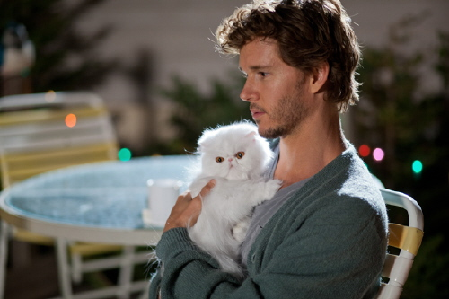 Leo and his kitty from the Serendipity Point Films movie The Right Kind of Wrong