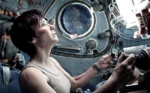 Ryan Stone pilots Soyuz from the Warner Bros. Pictures film Gravity