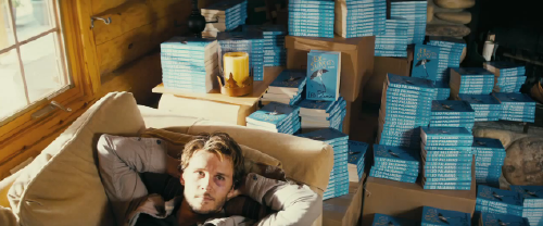Leo and his unsold books from the Serendipity Point Films movie The Right Kind of Wrong