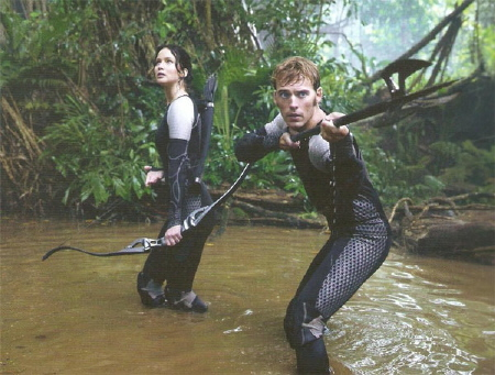 Finnick and Katniss from the Lionsgate film Hunger Games 2 Catching Fire