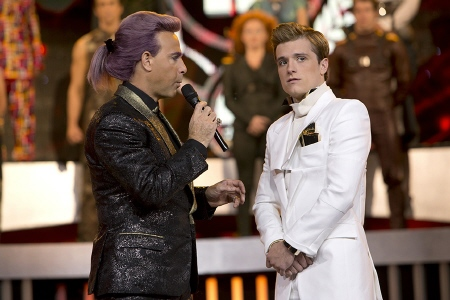 Caesar interviews Peeta from the Lionsgate film Hunger Games 2 Catching Fire