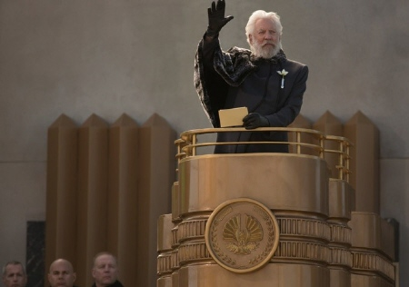 President Snow from the Lionsgate film Hunger Games 2 Catching Fire
