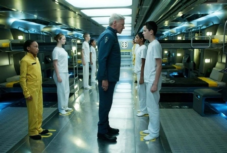 Colonel Graff and Ender  from the Summit Entertainment film Enders Game