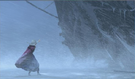 Anna in the blizzard from the Walt Disney Pictures film Frozen