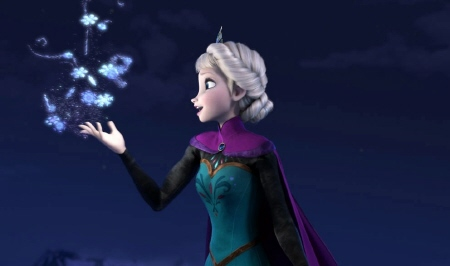 Elsa makes ice from the Walt Disney Pictures film Frozen