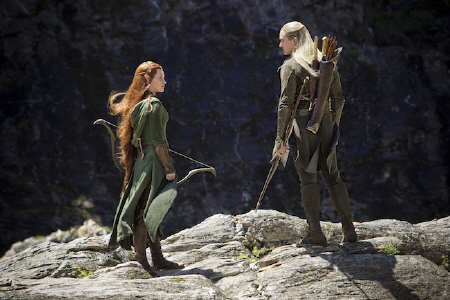 Tauriel and Legolas from the Warner Bros. Pictures film The Hobbit Desolation of Smaug