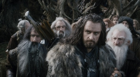 Thorin and the dwarves from the Warner Bros. Pictures film The Hobbit Desolation of Smaug