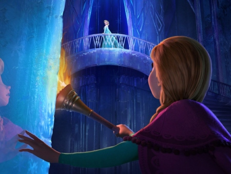 Anna looks for Elsa from the Walt Disney Pictures film Frozen
