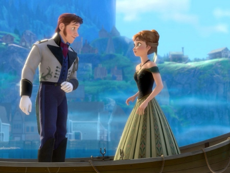 Hans and Anna meet from the Walt Disney Pictures film Frozen