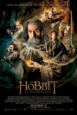 poster from the Warner Bros. Pictures film The Hobbit Desolation of Smaug