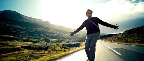 Ben Stiller on a skateboard from the Twentieth Century Fox Film The Secret Life of Walter Mitty