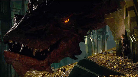 Smaug the dragon from the Warner Bros. Pictures film The Hobbit Desolation of Smaug