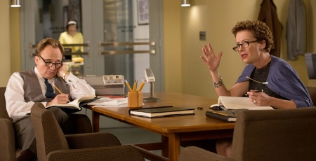 P.L. Travers and Don DaGradi from the Walt Disney Pictures film Saving Mr. Banks