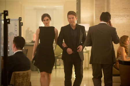 Cathy and Viktor from the Paramount Pictures film Jack Ryan Shadow Recruit