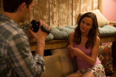 Zach Gilford and Allison Miller from the 20th Century Fox film Devils Due
