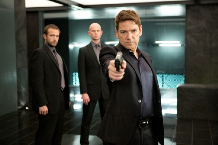 Viktor shoots a goon from the Paramount Pictures film Jack Ryan Shadow Recruit