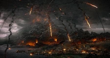 Vesuvius destroys Pompeii from the Sony Pictures film Pompeii