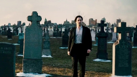Peter in the graveyard from the Warner Bros. Pictures film Winters Tale