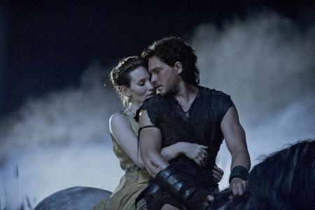 Cassia and Milo on horseback