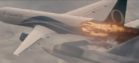 Aqua Atlantic plane from the Universal Pictures film Non-Stop