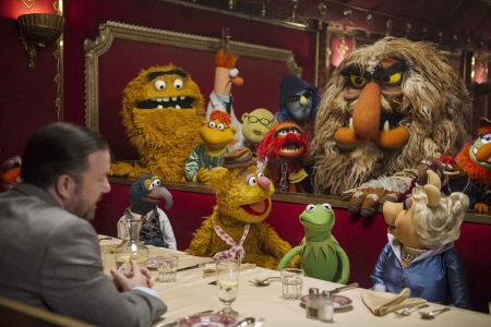 Dominic takes the muppets to dinner from the Walt Disney Pictures film Muppets Most Wanted
