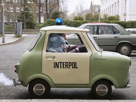 tiny Interpol car from the Walt Disney Pictures film Muppets Most Wanted