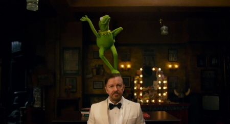 Constantine dances on Dominic from the Walt Disney Pictures film Muppets Most Wanted