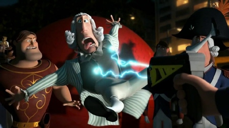 Maximillian Robespierre gets tasered from the Dreamworks Pictures film Mr. Peabody and Sherman