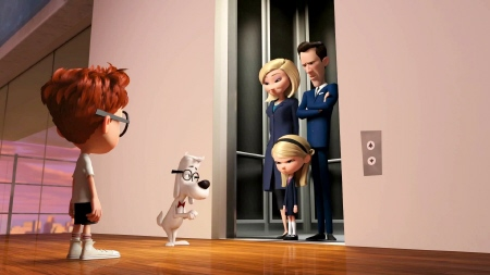 Penny and her parents arrive for dinner from the Dreamworks Pictures film Mr. Peabody and Sherman