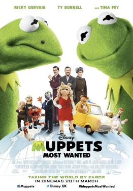 poster from the Walt Disney Pictures film Muppets Most Wanted