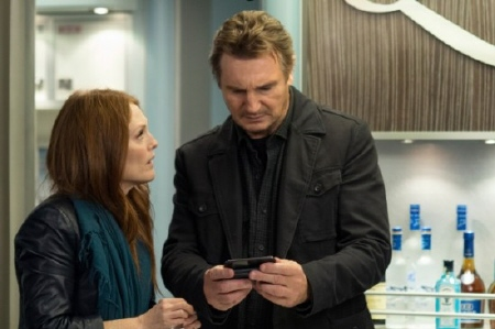 Liam Neeson and Julianne Moore from the Universal Pictures film Non-Stop
