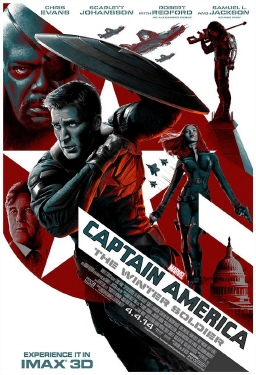 poster from the Marvel Studios film Captain America Winter Soldier