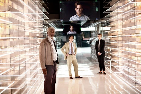 Computer Will and his AI cores in the Warner Bros. Pictures film Transcendence