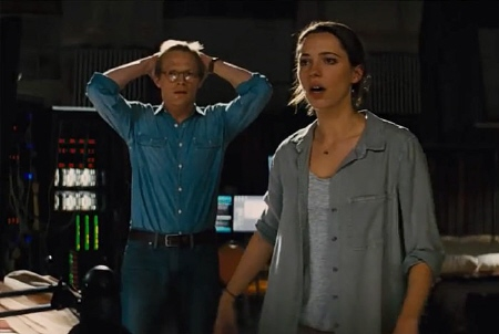 Paul Bettany and Rebecca Hall in the Warner Bros. Pictures film Transcendence