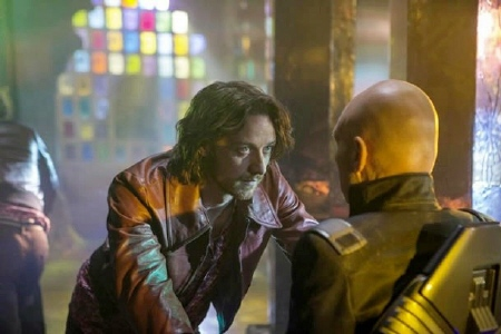 James MacAvoy and Patrick Stewart as Charles Xavier from the Twentieth Century Fox film X-Men Days of Future Past