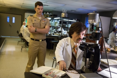 Josh Helman as Stryker and Peter Dinklage as Trask from the Twentieth Century Fox film X-Men Days of Future Past