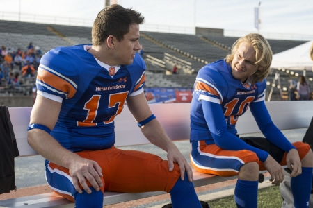 Channing Tatum and Wyatt Russell from the Columbia Pictures movie 22 Jump Street
