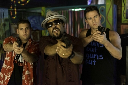 Scmidt, the Captain, and Jenko from the Columbia Pictures movie 22 Jump Street