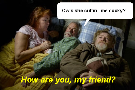 Murray in bed with Simon and Vera from the Entertainment One movie The Grand Seduction