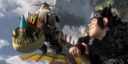 Ruffnut and Snotlout play sheep ball from the Dreamworks Pictures film How to Train Your Dragon 2